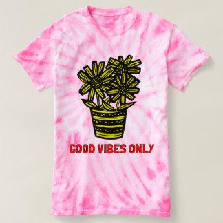 """Good Vibes Only"" Women's Cyclone Tie-Dye T-shirt"