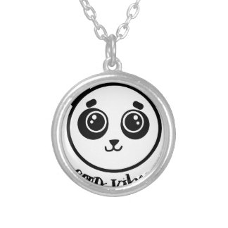 Good Vibes Panda Silver Plated Necklace