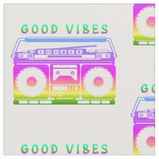 Good Vibes Retro Stereo Fabric