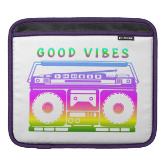 Good Vibes Retro Stereo iPad Sleeve