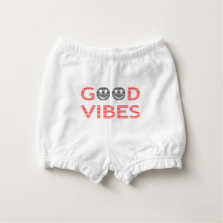 Good vibes - smiley - black and red. diaper cover
