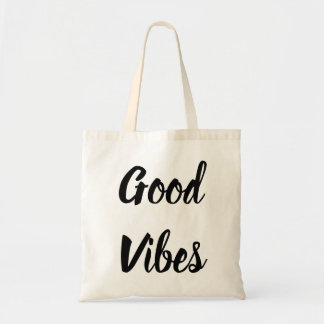 """good vibes"" tote bag"
