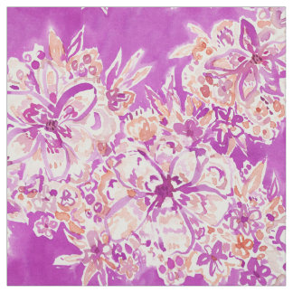 GOOD VIBES Wild Watercolor Floral Fabric