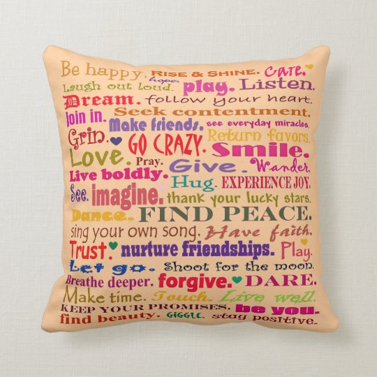 good vibrations pillow square