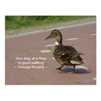 Good Walking Postcard