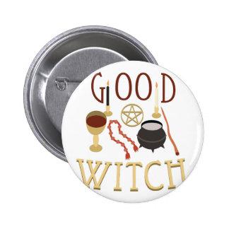 Good Witch 2 Inch Round Button