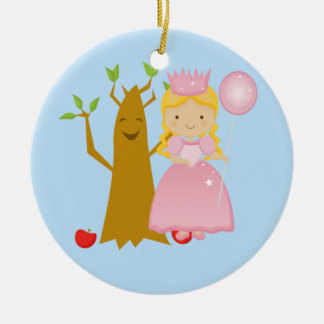 Good witch next to Talking Tree Christmas Ornament