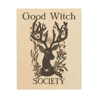 Good Witch Society Deer Wooden Wall Art Wood Canvas