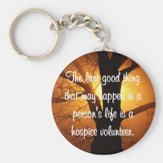 Good Works of the Hospice Volunteer Keychain