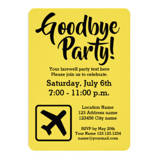 farewell party invite for coworker
