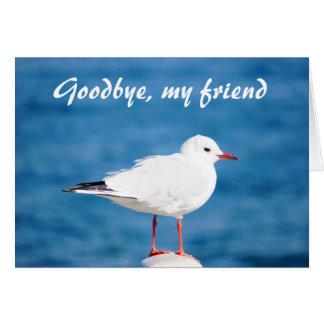 Goodbye Gull Sayonara Auf Wiedersehen Despedida Card