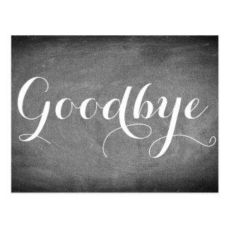 Goodbye Handwriting Typography Black White Postcard