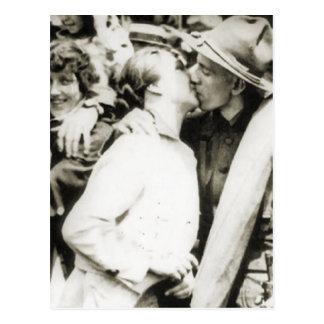 Goodbye kiss 1915 postcard
