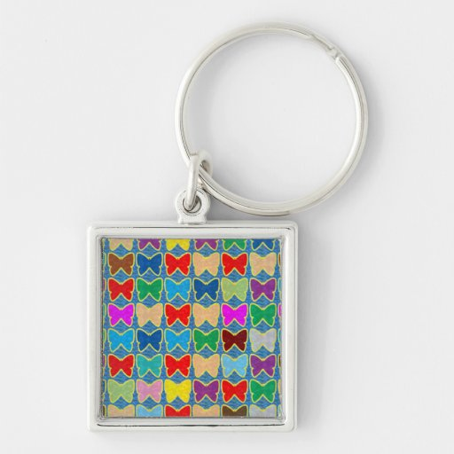 GOODday wave Whirl Wind Butterfly pattern graphic Key Chain