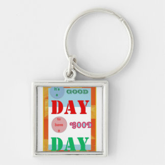 GOODday wave Whirl Wind Butterfly pattern graphic Silver-Colored Square Keychain