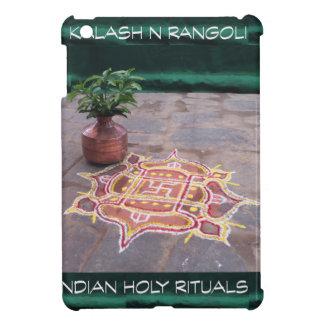 Goodluck Copper Vessel Rangoli Swistika Religious iPad Mini Case