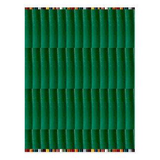 GoodLUCK Green Stripes Chakra Wave Fan gifts Postcard
