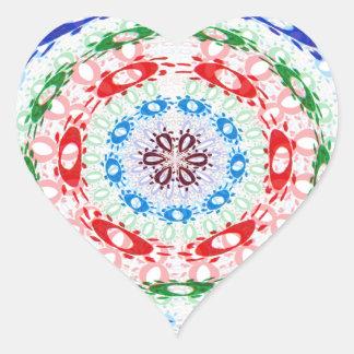 Goodluck Round Chakra Healing Art Heart Sticker