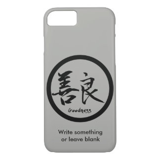 Goodness Black Kanji  Kamon | iPhone 7 cases