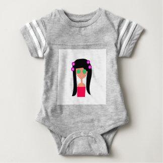Goodness design on white baby bodysuit