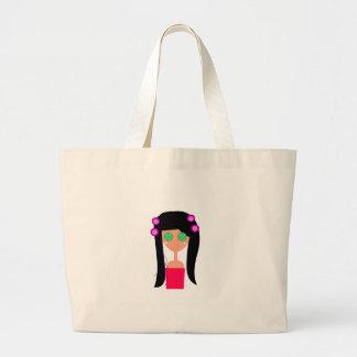 Goodness design on white large tote bag