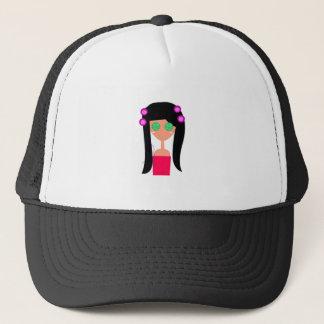 Goodness design on white trucker hat