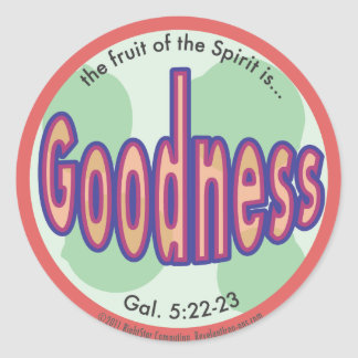 Goodness Fruit of the Spirit Spot Sticker