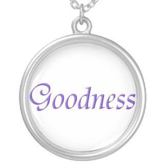 """""""Goodness"""" Sterling Silver Necklace"""