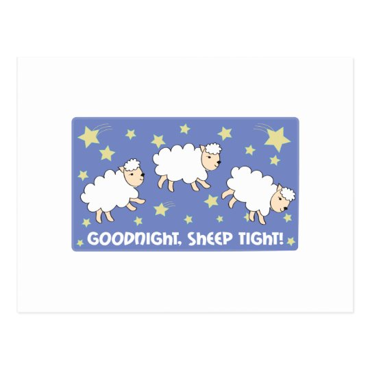 Goodnight. Sheep Tight! Postcard