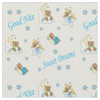 Goodnight Teddy Bears Fabric