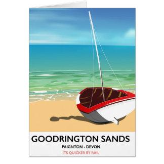 Goodrington Sands Devon vintage travel poster Card