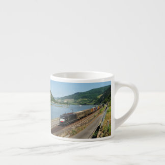 Goods train in ASS one ASS on the Rhine Espresso Cup