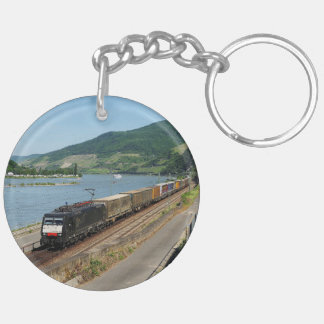 Goods train in ASS one ASS on the Rhine Keychain