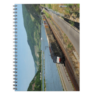 Goods train in ASS one ASS on the Rhine Notebook