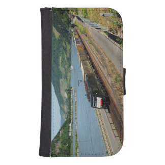 Goods train in ASS one ASS on the Rhine Samsung S4 Wallet Case