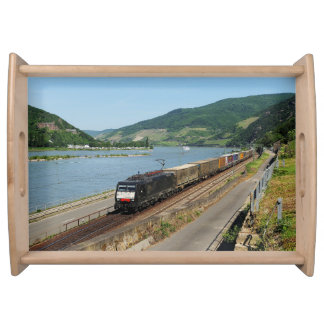 Goods train in ASS one ASS on the Rhine Serving Tray