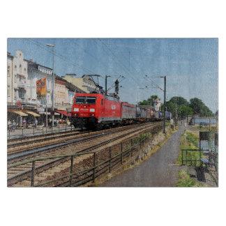 Goods train in coarse home on the Rhine Cutting Board