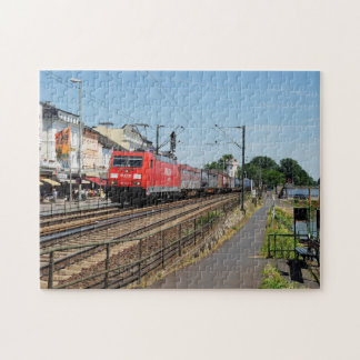 Goods train in coarse home on the Rhine Jigsaw Puzzle