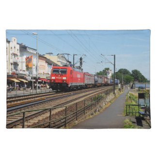 Goods train in coarse home on the Rhine Placemat