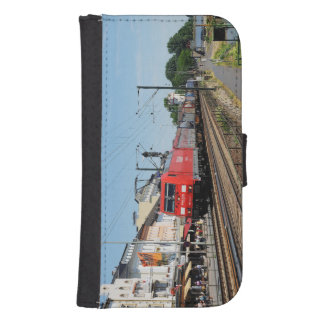 Goods train in coarse home on the Rhine Samsung S4 Wallet Case