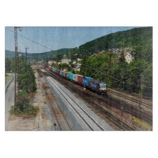 Goods train in Gemünden at the Main Cutting Board