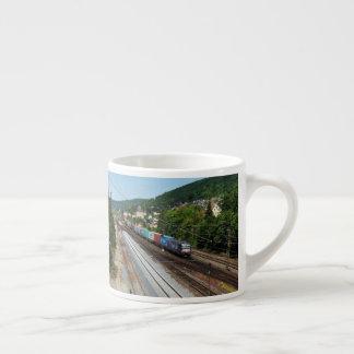 Goods train in Gemünden at the Main Espresso Cup