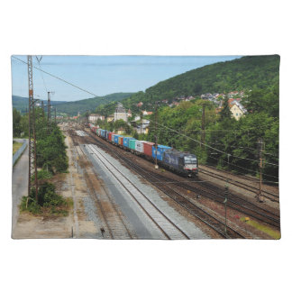 Goods train in Gemünden at the Main Placemat
