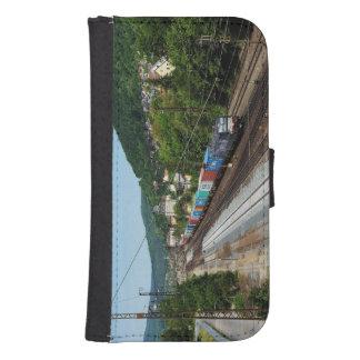 Goods train in Gemünden at the Main Samsung S4 Wallet Case