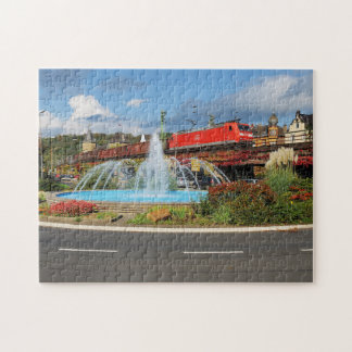 Goods train in Linz on the Rhine Jigsaw Puzzle