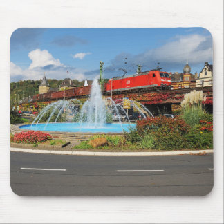 Goods train in Linz on the Rhine Mouse Pad