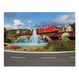 Goods train in Linz on the Rhine Postcard
