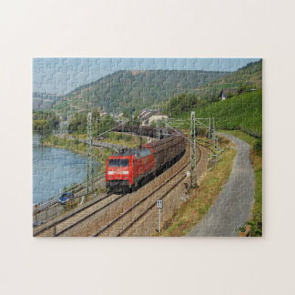 Goods train in Lorch on the Rhine Jigsaw Puzzle