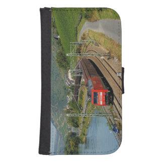 Goods train in Lorch on the Rhine Samsung S4 Wallet Case