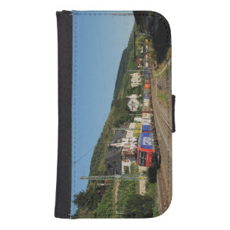 Goods train in Lorch on the Rhine Samsung S4 Wallet Case